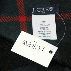 J. Crew Accessories - J Crew Men's Plaid Acrylic Scarf